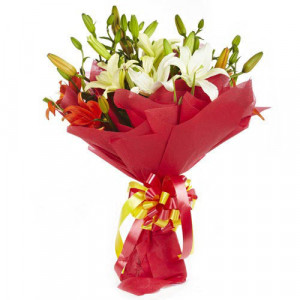 Lily Divine 10 Mix Lilies - Birthday Gifts for Her