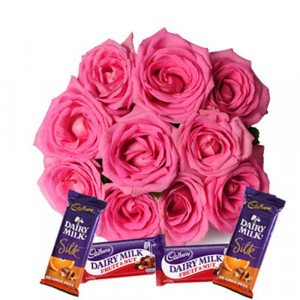 Blushing Roses - Chocolate Day Gifts