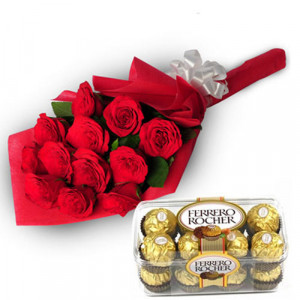 Charming Roses - Chocolate Day Gifts