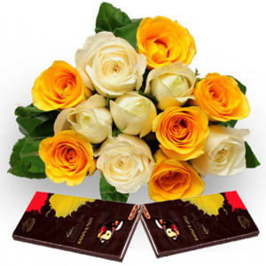 Roses N Chocolate - Chocolate Day Gifts