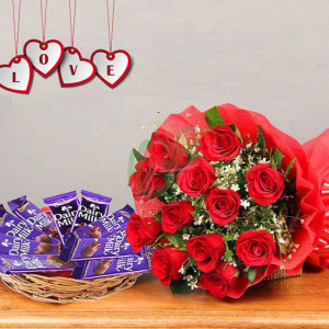 Basket of Happiness - online flowers delivery in dera bassi
