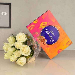 White Roses N Celebrations - online flowers delivery in dera bassi