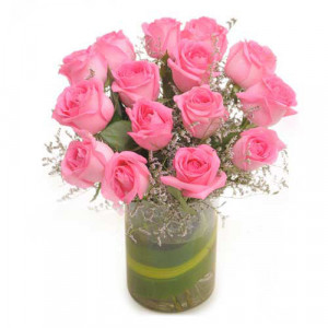 Enchanting Pink - Glass Vase Arrangements
