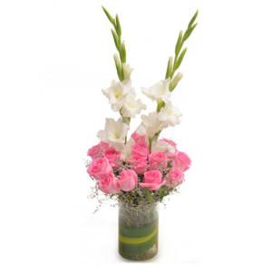 Pink Precious - Glass Vase Arrangements