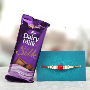 Jubilant Pack Rakhi With Chocolate