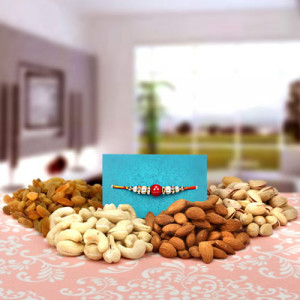 Healthy Dry Fruits Hamper - Rakhi for Brother Online