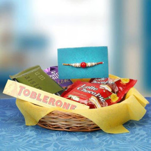 Lovely Rakhi Hamper - Rakhi for Brother Online