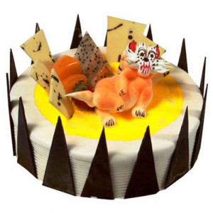 The Pineapple Cat 1kg - Birthday Cake Online Delivery
