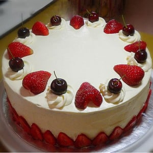 Cherry Loved Strawberry Cake - Online Cake Delivery in Kurukshetra