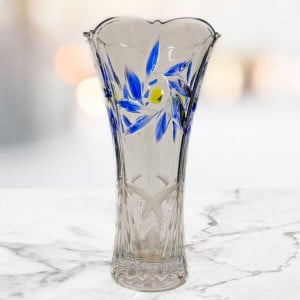 Blue Decorative Glass Vase - Send Gifts to Chandigarh