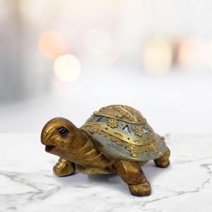 Golden Tortoise Idol Showpiece - Send Gifts to Panchkula Online