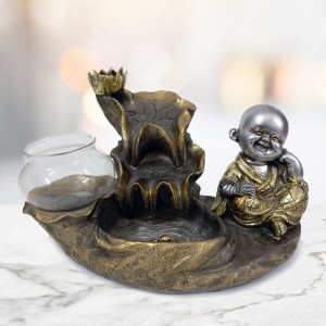 Laughing Buddha Fog Fountain - Send Gifts to Chandigarh