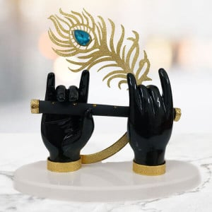 Statue of Krishna Hands with Morpankh