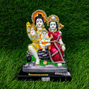 Shiva Parvati And Ganesha Idol - Online Gift Ideas