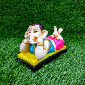Ganesh Ji Talking On A Mobile Statue