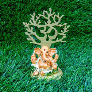 Refined Load Ganesha Idol Orange