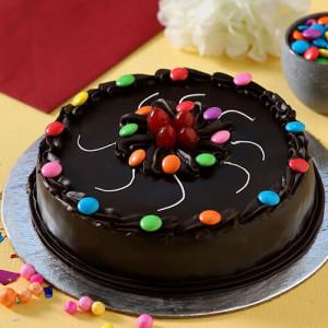 Swirly Gems Truffle Cake - Online Cake Delivery in Panchkula