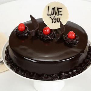 Love You Valentine Truffle Cake - Online Cake Delivery in Panchkula