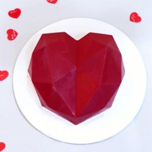 Red Pinata Heart Cake