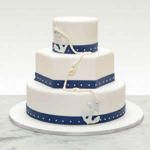 3 Tier Creamy Cake - Send Wedding Cakes Online