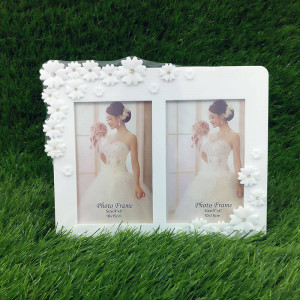 Lovely White Dual Photo Frame - Propose Day Gifts Online