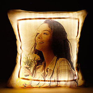 Personalised LED Cushion Multicolored with Remote