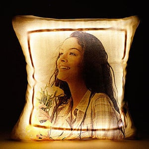 Personalised LED Cushion Multicolored with Remote - Cushions