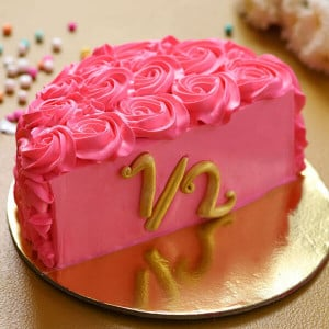 Dreamy Pink Chocolate Half Cake