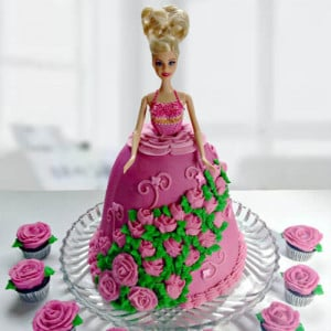 Online Doll Shape Cake - Send Cakes to Sonipat