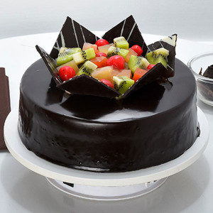 Chocolate Fruit Gateau 1kg - Send Cakes to Sonipat