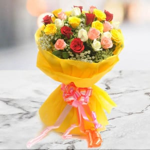 Bright 26 Mix Roses Online - Online Flower Delivery In Kurukshetra
