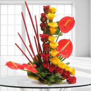 Modern Basket | Online Flower Delivery