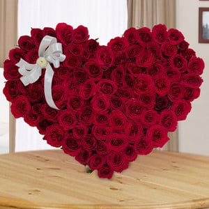 Heart And Soul 100 Red Roses Online - Send Valentine Gifts for Her