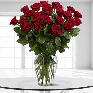 24 Enchanted Roses - Online flower delivery - Propose Day Gifts Online