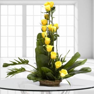 Beautiful Colors 15 Yellow Online Roses from Way2flowers - Propose Day Gifts Online