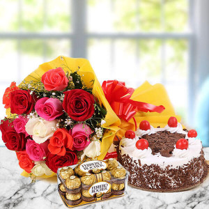 12 Mix Love Hamper - Online Flower Delivery In Kurukshetra
