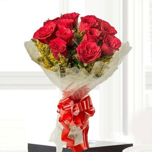 Emotions 12 Red Roses - Propose Day Gifts Online
