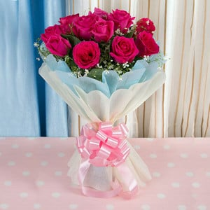 Gloriana 12 Red Roses Bunch - Online Flower Delivery In Kurukshetra