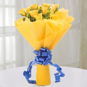 Degrees of Yellow - Online Flower Delivery In Kurukshetra