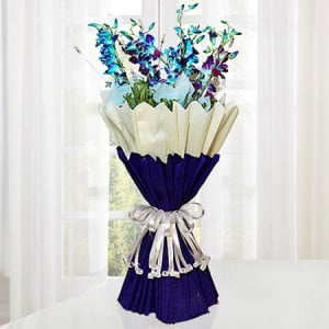 Sparkle Purple 10 Orchids - Online Flower Delivery In Kurukshetra