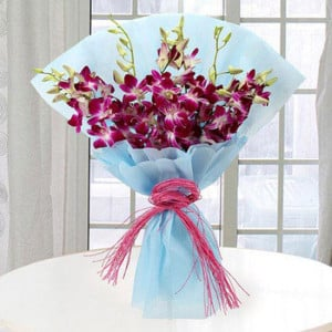 Purple Orchids 10 Orchids Online - Send Valentine Gifts for Her