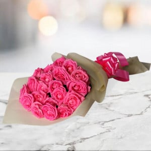 Natural Beauty 20 Pink Roses - online flowers delivery in dera bassi