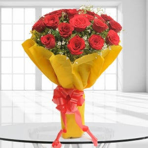 Beautiful 20 Red Roses - Send Flowers to Amreli Online