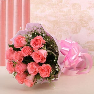 12 Baby Pink - Send Flowers to Calcutta
