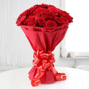 Roses N Love 20 Red Roses - Online Flower Delivery In Kurukshetra