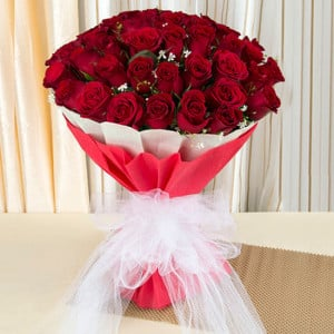 Love & Love 75 Red Roses Online - online flowers delivery in dera bassi