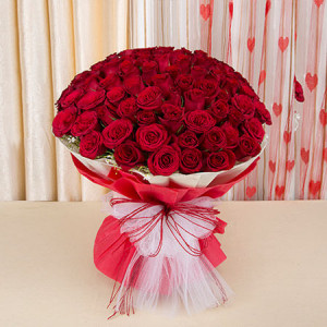 Eternal Bliss 50 Red Roses - Amravati
