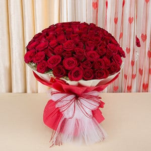Eternal Bliss 50 Red Roses - Send Flowers to Belur Online
