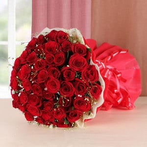 Passion Love 50 Red Roses - Send Flowers to Belur Online