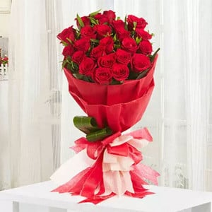 Romantic 20 Red Roses - Online Flower Delivery In Kurukshetra